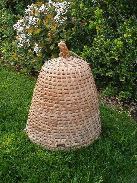 Primitive French Straw Bee Skep For Your Garden Casual