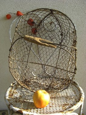Antique wire fr basket