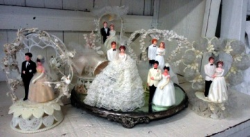 Repurpose Vintage Wedding Cake Toppers Casual Cottage Chic Brocante